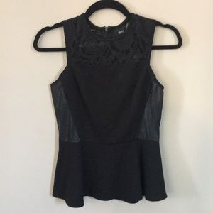 Black mossimo peplum with lace straps